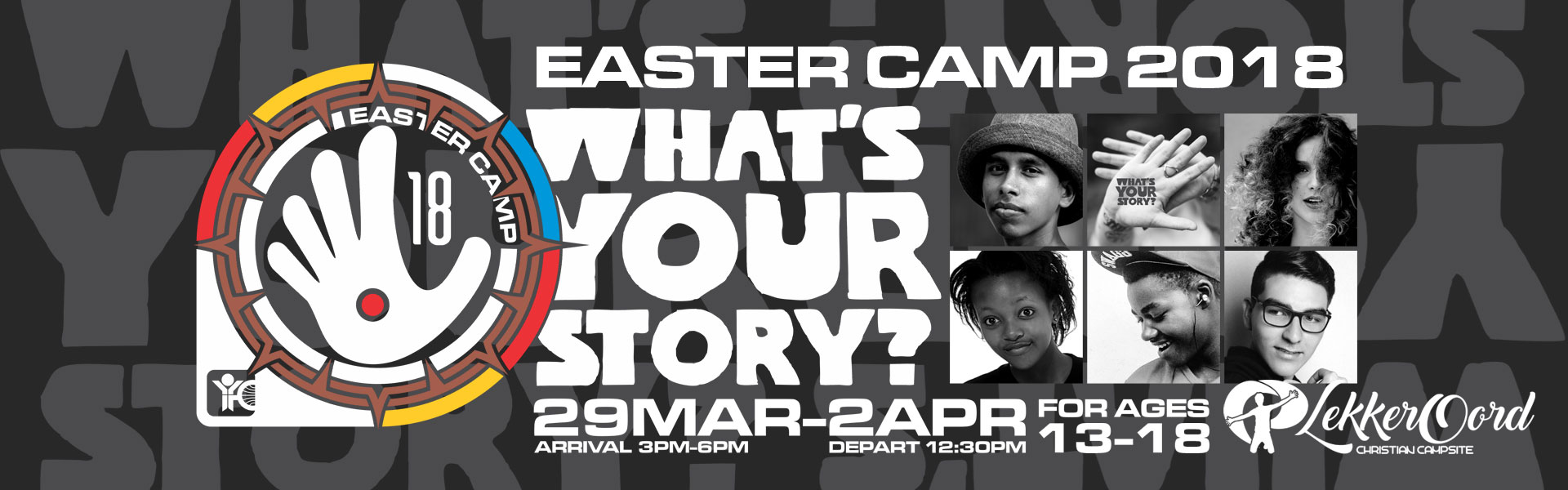 Easter Camp 2018 Banner #What'sYourStory
